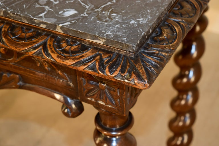 19th Century French Console Table with Marble Top For Sale 3