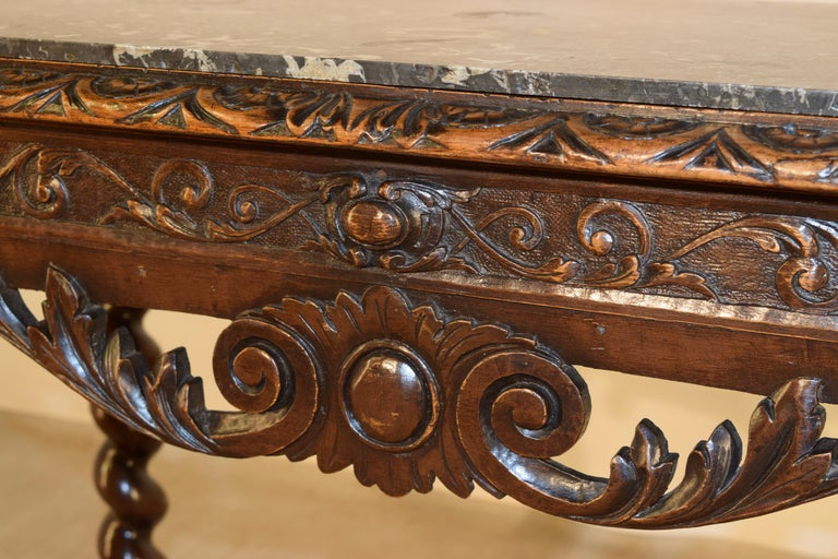 19th Century French Console Table with Marble Top For Sale 4