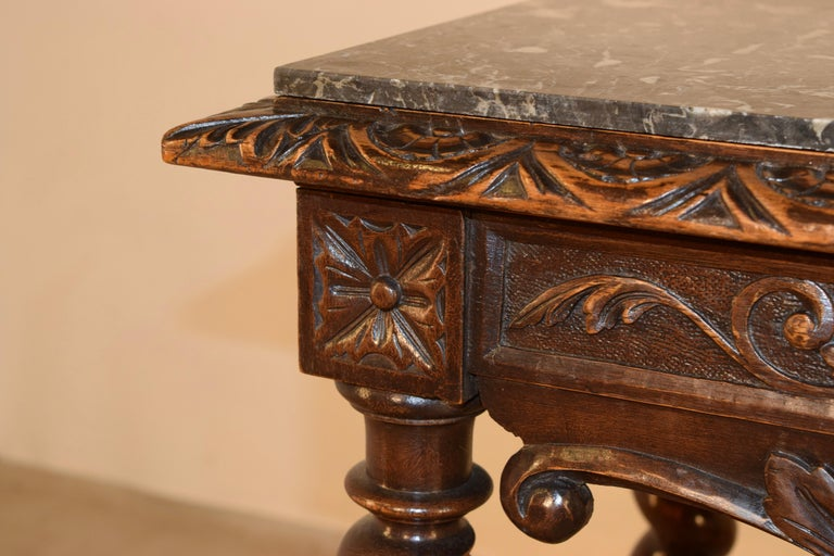19th Century French Console Table with Marble Top For Sale 5