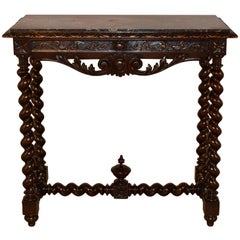 19th Century French Console Table with Marble Top