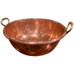 19th Century French Copper and Bronze Jelly Bowl from Normandy