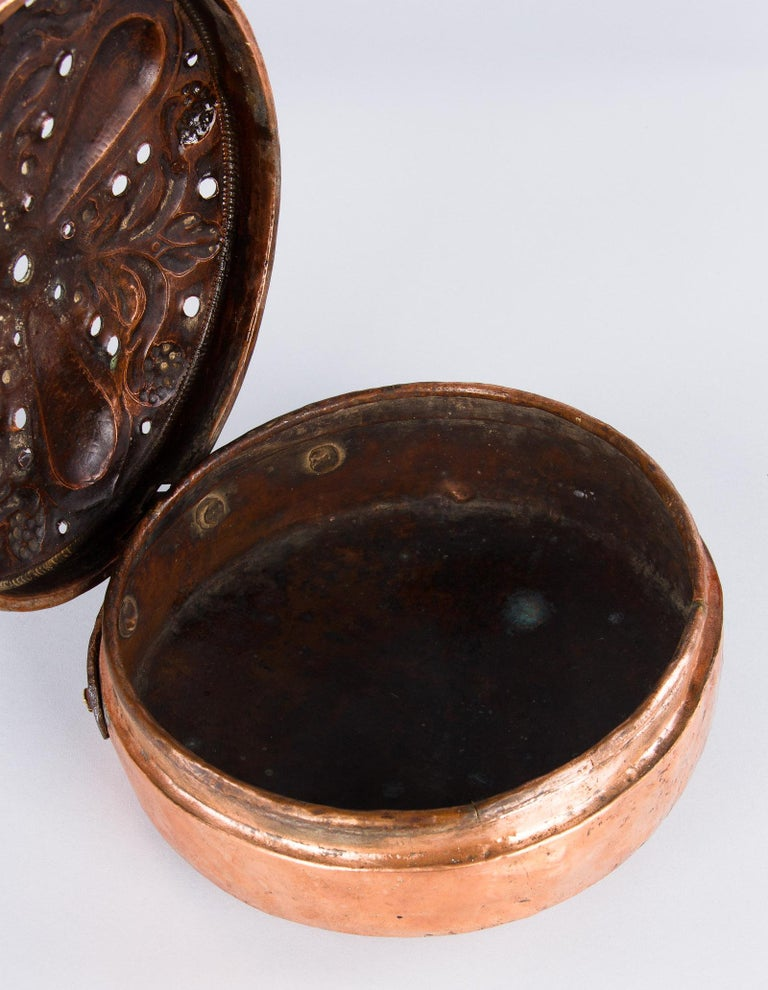 19th Century French Copper Bed Warmer For Sale 12
