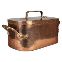 19th Century French Copper Daubiere or Braiser Pot