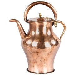 19th Century French Copper Ewer Pitcher