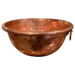 19th Century French Copper Jelly Bowl from Normandy