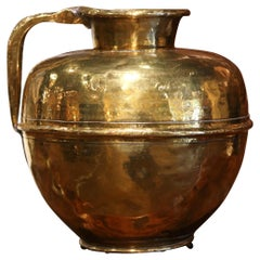 19th Century French Copper Milk Pitcher from Normandy