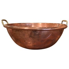 19th Century French Copper over Brass Jelly Bowl from Normandy