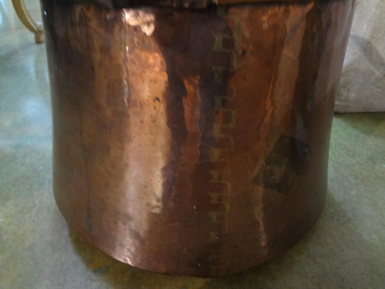 19th Century French Copper Pot with Lid For Sale 2