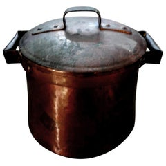 19th Century French Copper Pot with Lid