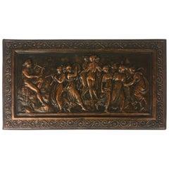 19th Century French Copper Relief Plaque, circa 1850