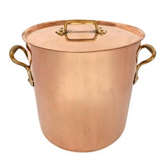 19th Century French Copper Stock Pot