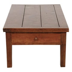 19th Century French Country Draw Leaf Table Base of Coffee Table