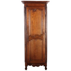 19th Century French Country Oak 'Bonnetiere' or Single-Door Armoire