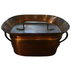 19th Century French Covered Copper Pan