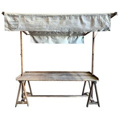 19th Century French Covered Work Table