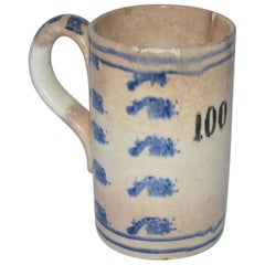 19th Century French Creamware Mug