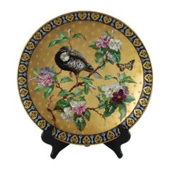 19th Century French Creil & Montereau Hand Painted Aesthetic Movement Charger
