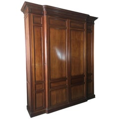 19th Century Mahogany Cabinet, Armoire or Wardrobe, Library