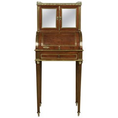 19th Century French Cylinder Writing Desk