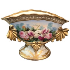 19th Century French Decorated Porcelain Wedding Vase, 1850s