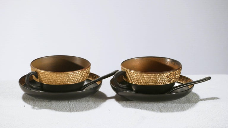 19th Century French Decorative Tea Set, circa 1870s In Good Condition For Sale In Paris, FR