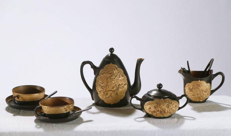 Late 19th Century 19th Century French Decorative Tea Set, circa 1870s For Sale