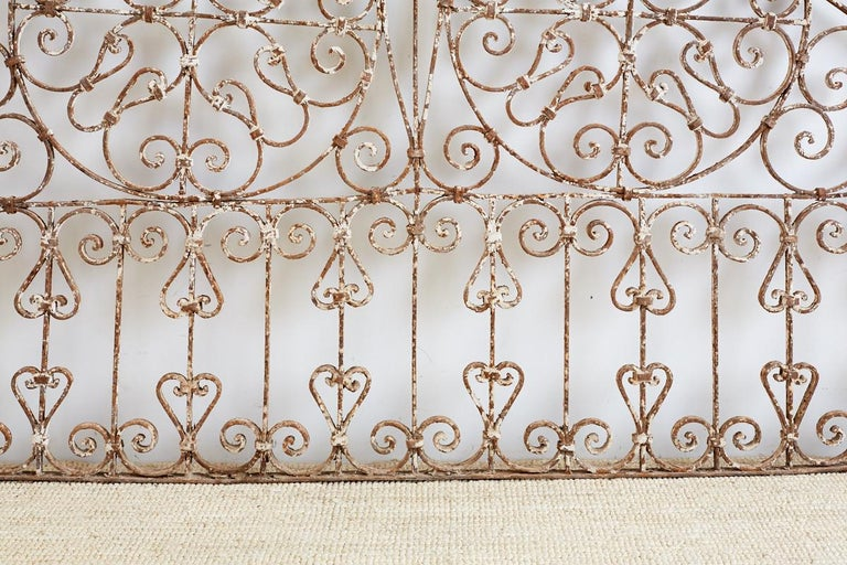 19th Century French Demilune Iron Transom Grille For Sale 5