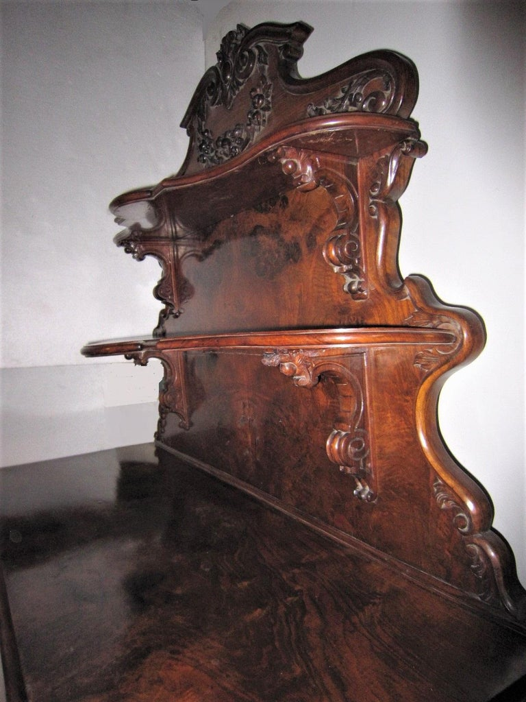 Carved 19th Century French Dessert Cabinet Server For Sale
