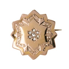 19th Century French Diamond 18 Karat Rose Gold Brooch