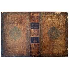 "19th Century French Dictionary Cover as Folio ""Dictionnaire de la Conversation"""