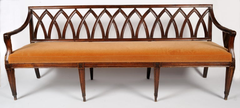 19th Century French Directoire Bench In Good Condition For Sale In Kensington, MD