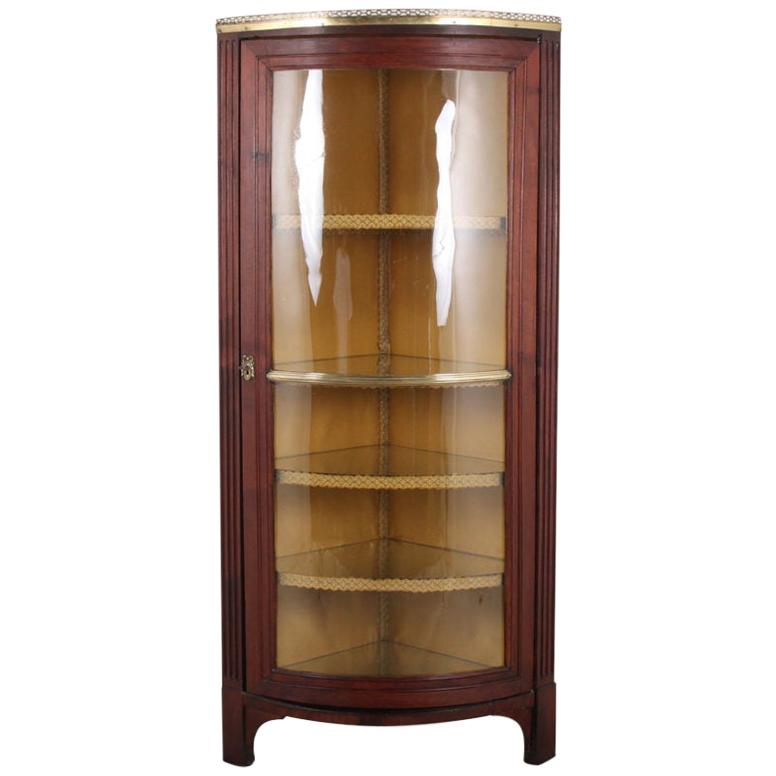 19th Century French Directoire-Style Corner Cabinet