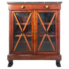 19th Century French Directoire Style Marble Top Credenza
