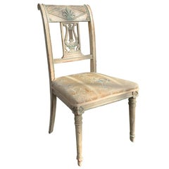 19th Century French Directoire Style Painted Side Chair