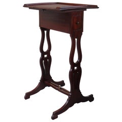 19th Century French Directoire Wood Side Table with Drawer
