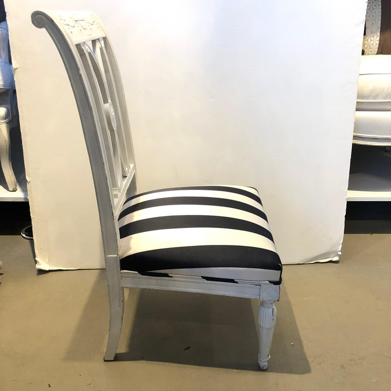 19th Century French Directoire Wooden Chair In Excellent Condition For Sale In Boston, MA