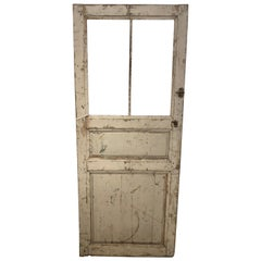 19th Century French Distressed Painted Door