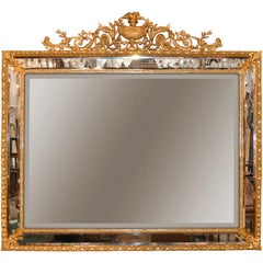 19th Century French Dore Bronze Wall Mirror