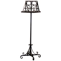 19th Century French Double-Sided Swivel Wrought Iron Music Stand Lectern