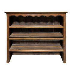 19th Century French Dresser Top with Three Shelves, Scalloped Edge