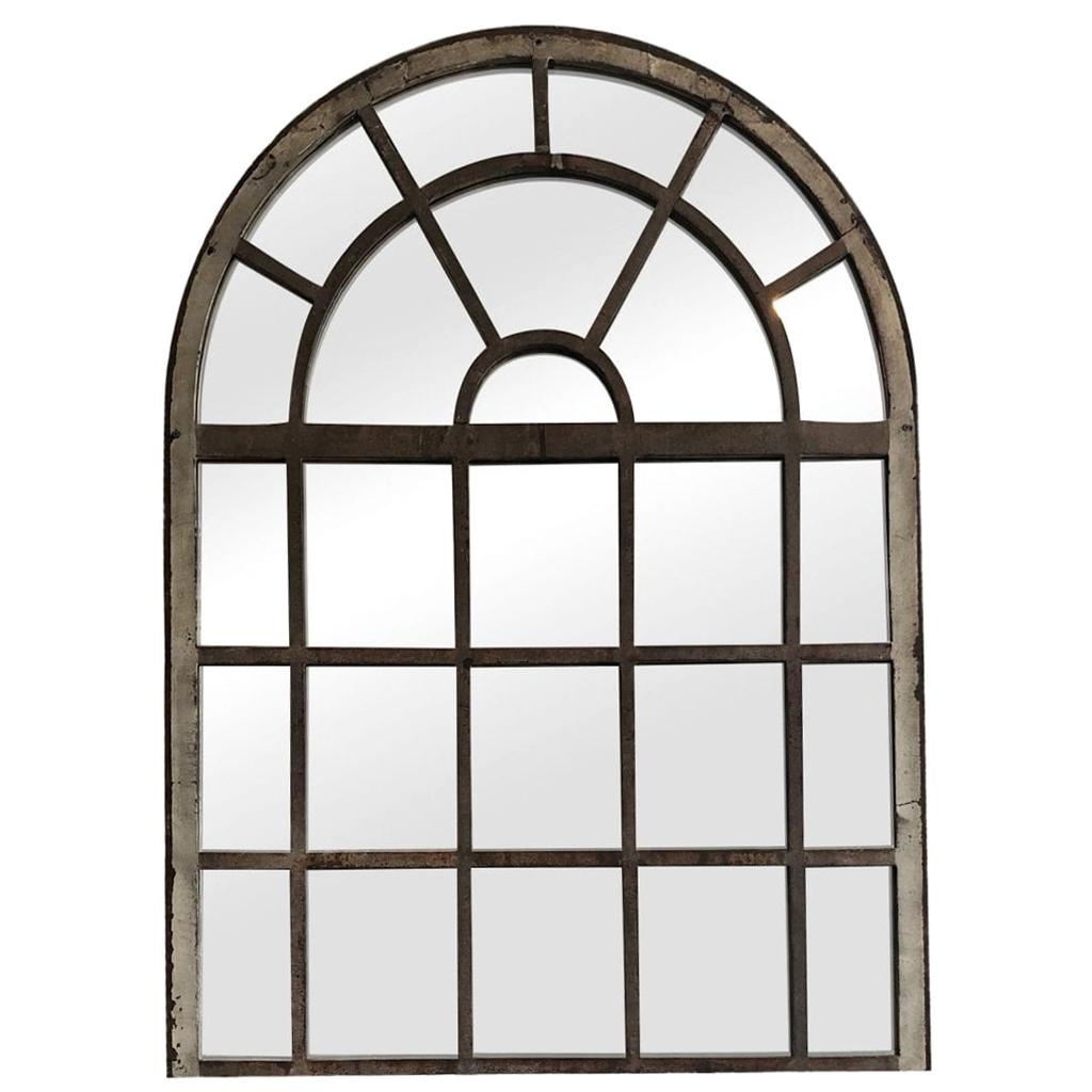 19th Century French Dugommier Orangerie Metal Wall Mirror