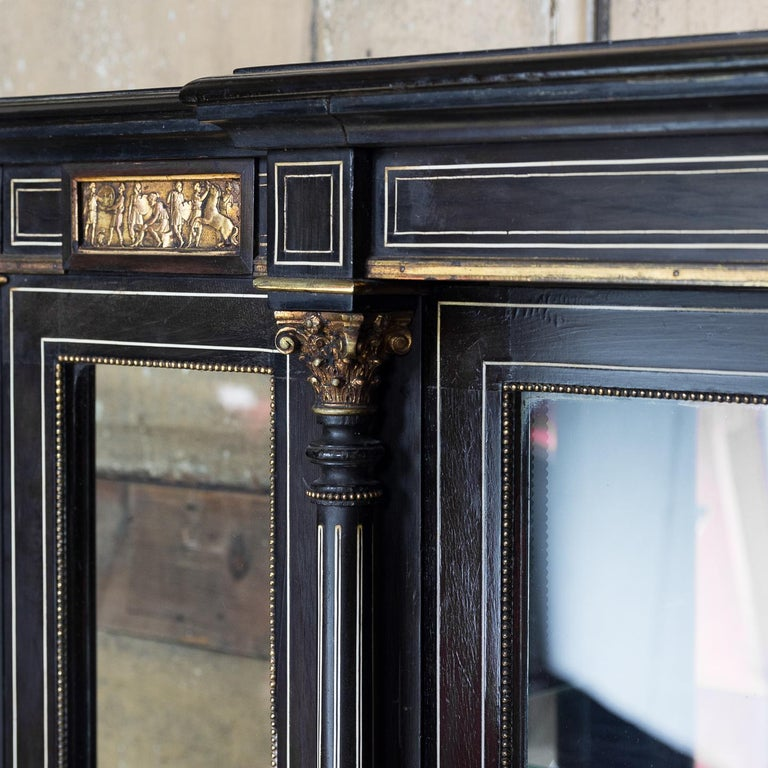 19th Century French Ebonized Side Cabinet For Sale 12