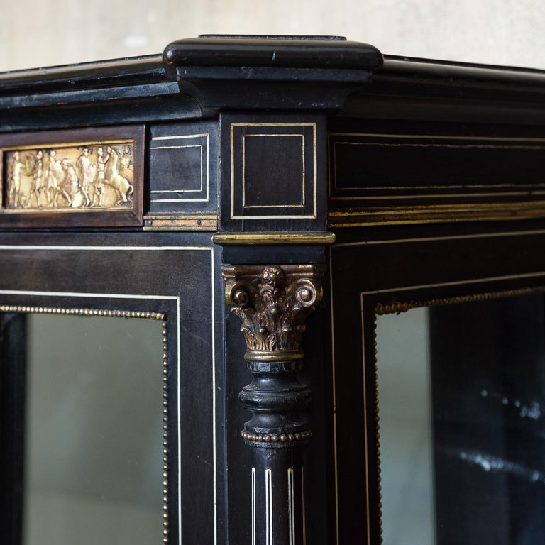 19th Century French Ebonized Side Cabinet For Sale 13
