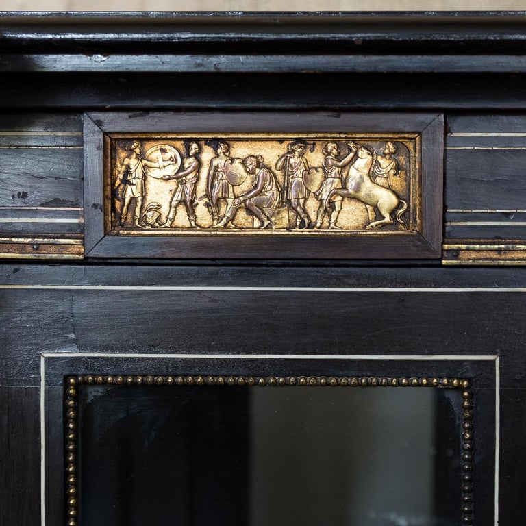 19th Century French Ebonized Side Cabinet In Good Condition For Sale In London, GB