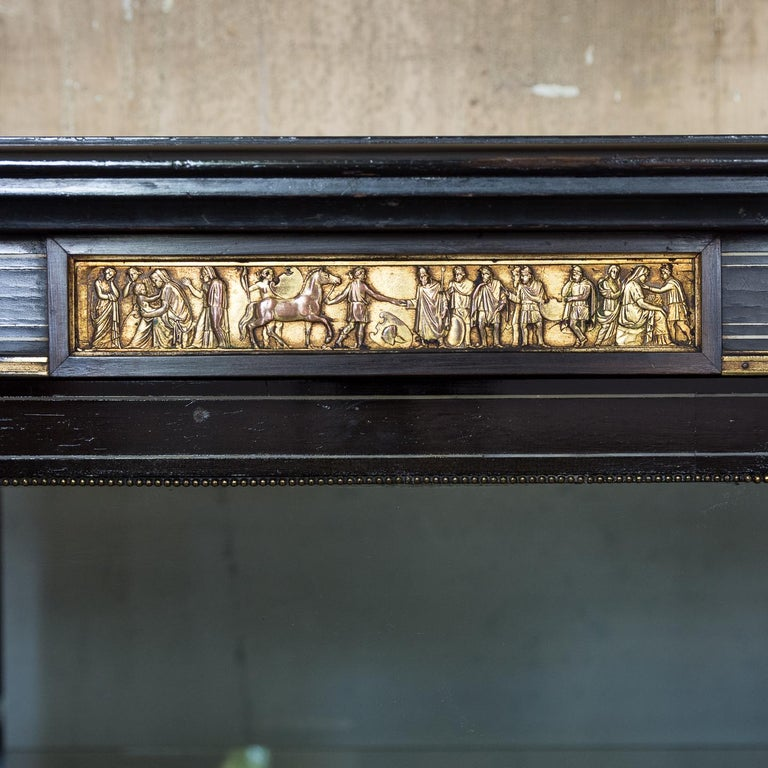 19th Century French Ebonized Side Cabinet For Sale 1