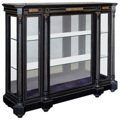 19th Century French Ebonized Side Cabinet