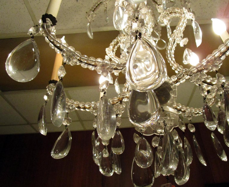 19th century French Eight-Light Crystal Chandelier 8