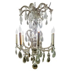 19th Century French Eight-Light Crystal Chandelier