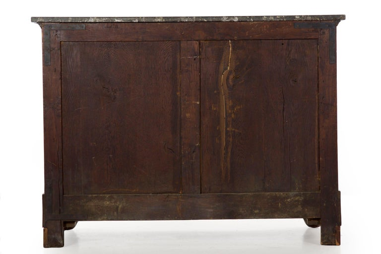 19th Century French Empire Antique Mahogany Commode Chest of Drawers For Sale 13