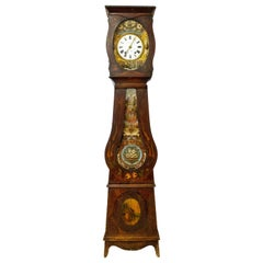 19th Century French Empire Comtoise or Grandfather Clock L. Rouffet, Bayonne